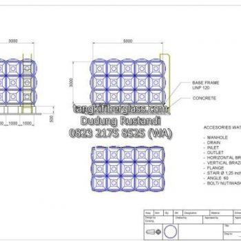 gambar teknis tangki panel
