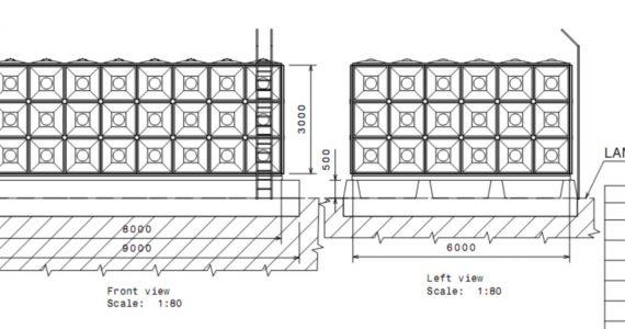 tangki panel 144m3
